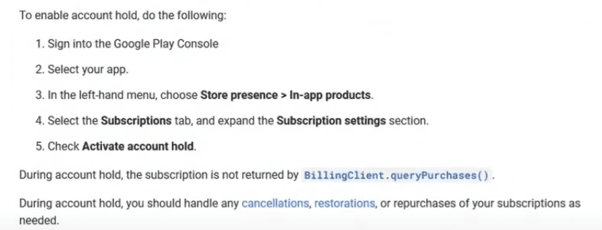 Google Play console new policy