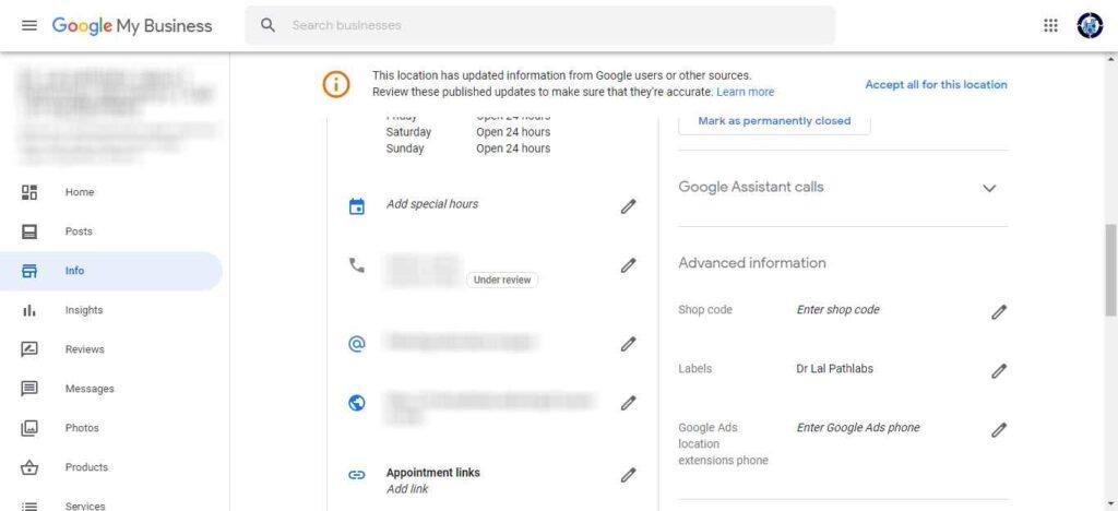 Google Complaint Mobile number under review